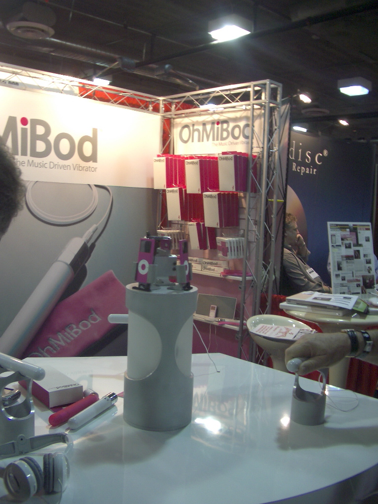 photo of ohmibod booth at Adult Expo