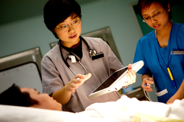 photo of nurse using MCA